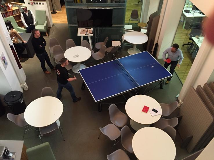 I'm not the only one in the team who decided that a little R&R wouldn't go amiss - the table tennis table was broken out at the end of the day for a few games