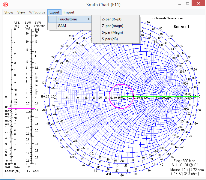 Smith Chart Export