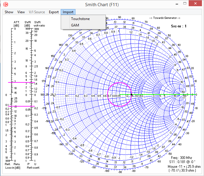 Smith Chart Import