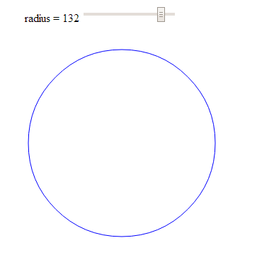 Adjust the radius of a circle