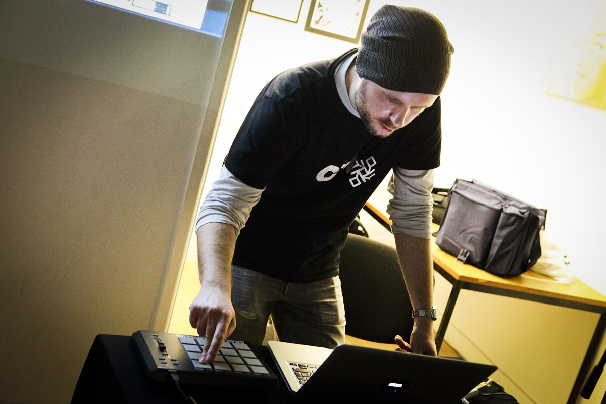 Mark Towers teaching Ableton Live in Leicester
