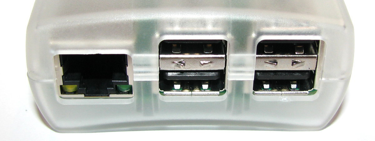 RJ45 and USB ports