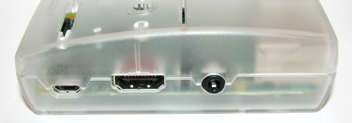 Micro USB, HDMI and stereo / composite ports
