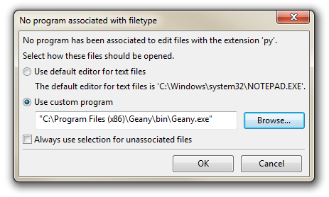 Associate the File Type to an Editor