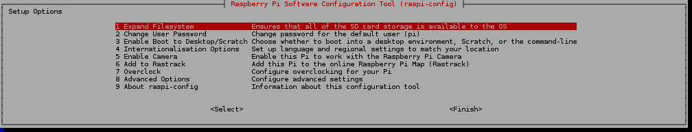 Raspberry Pi Software Configuration Tool