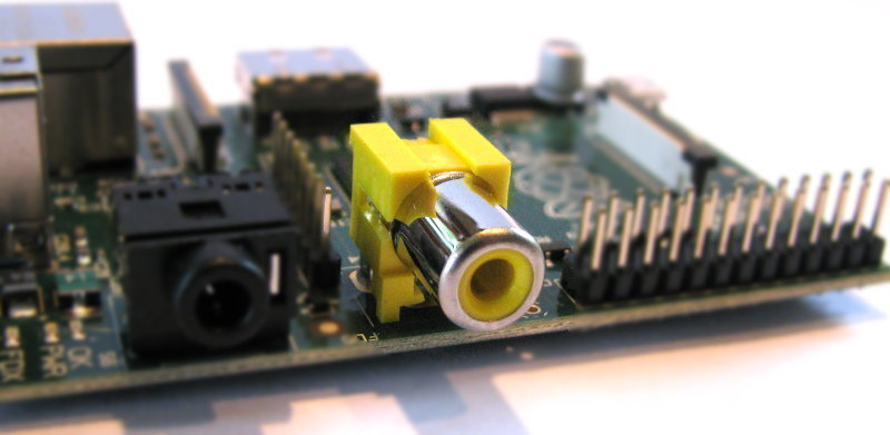 Raspberry Pi B Composite Video Output