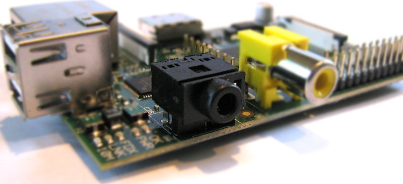 Raspberry Pi B Audio Connector