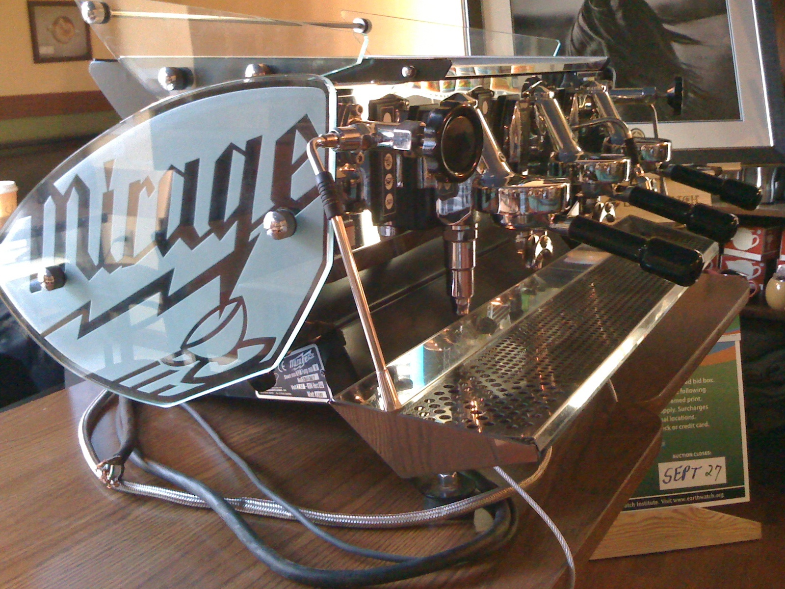 A beautiful espresso machine