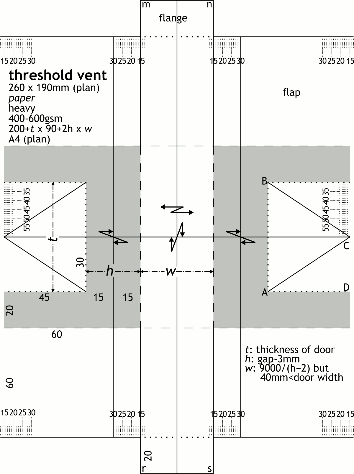 plan: threshold vent