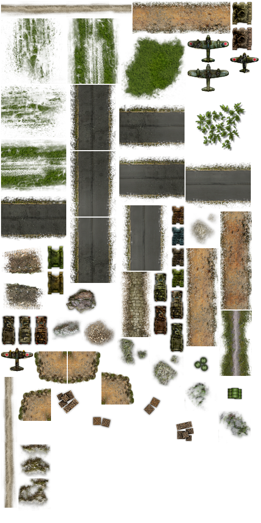 Tileset with tiles of irregular size