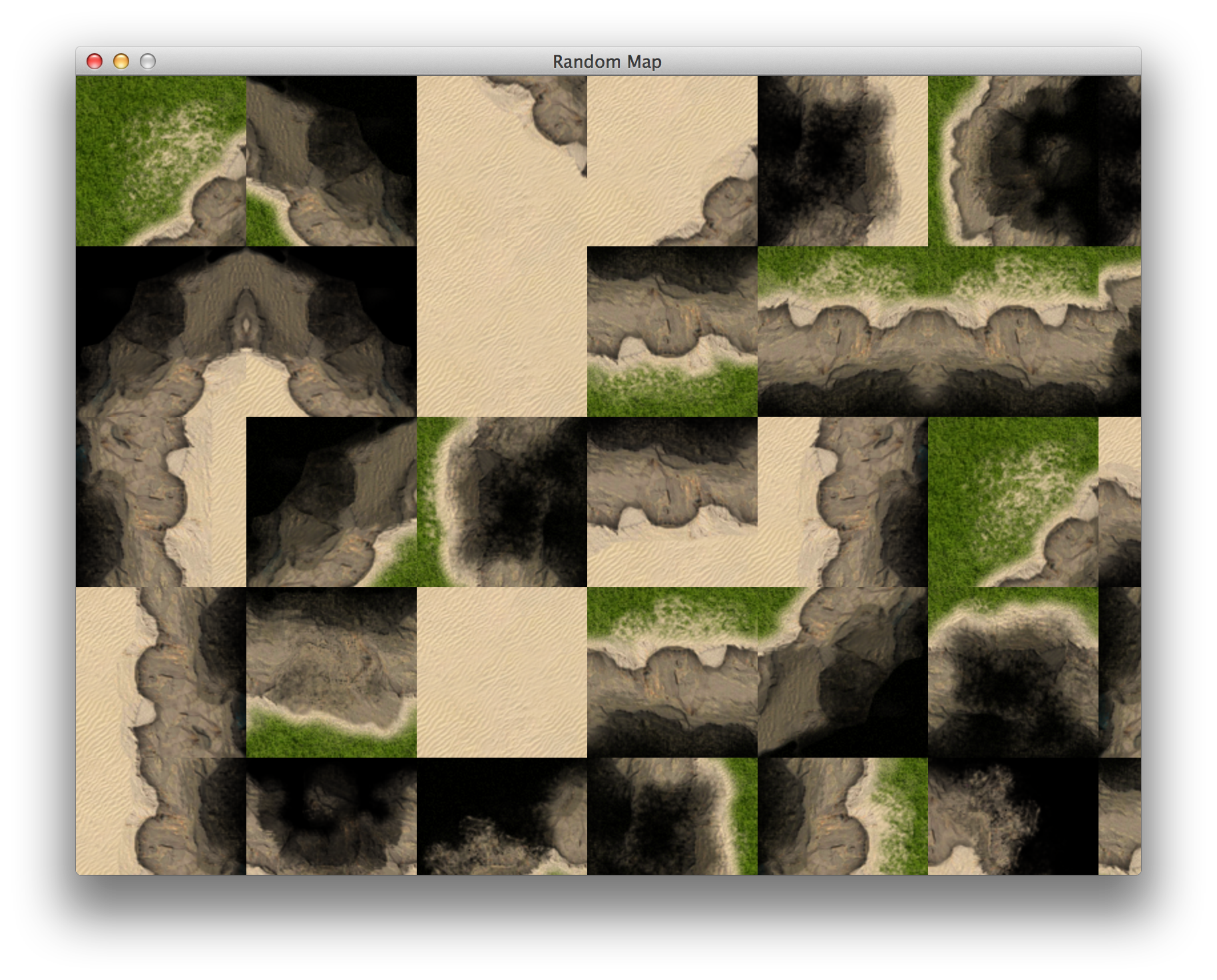 Map filled with *seamless* random tiles