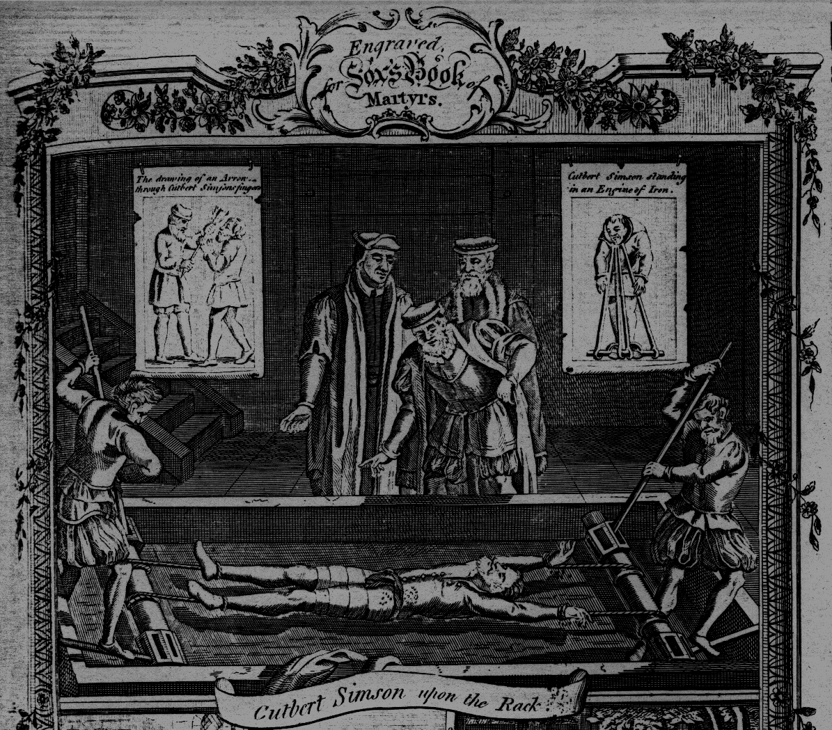 Woodcut from the 1563 Edition of Foxe's Book of Martyrs.