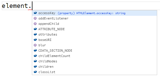 HTMLElement autocomplete options