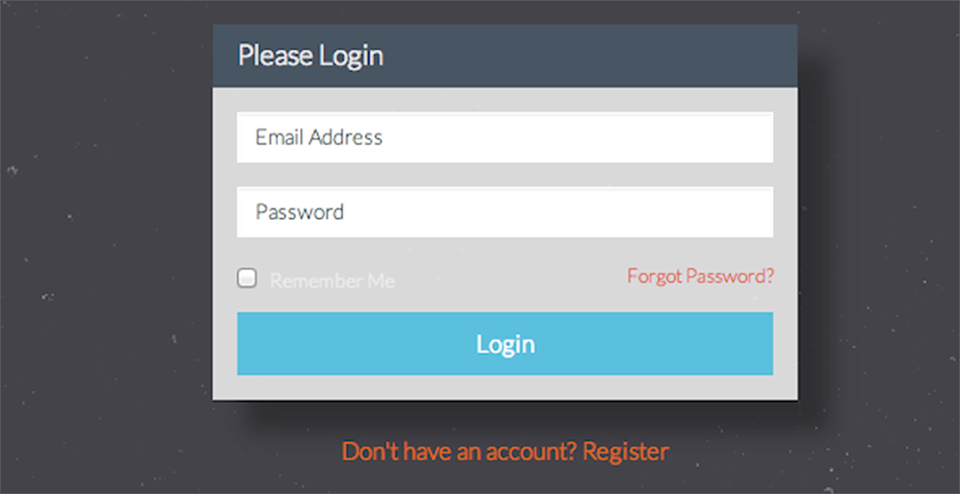 The look of the Login Form based on HTML from listing 1.9