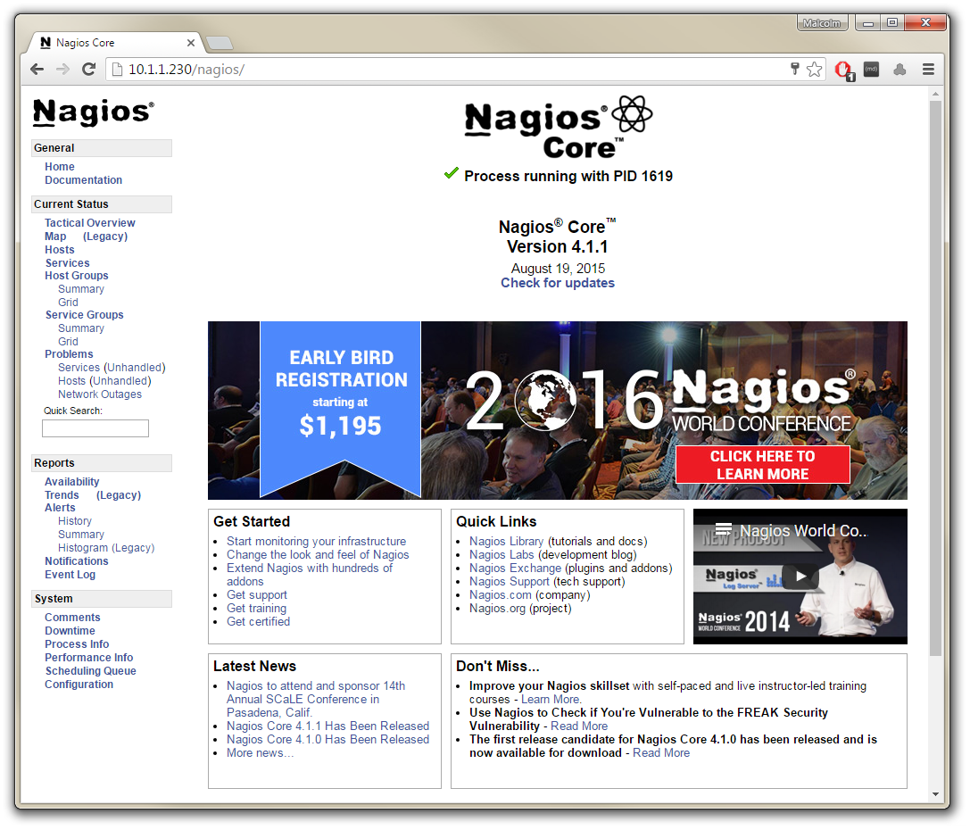 Nagios Front Page