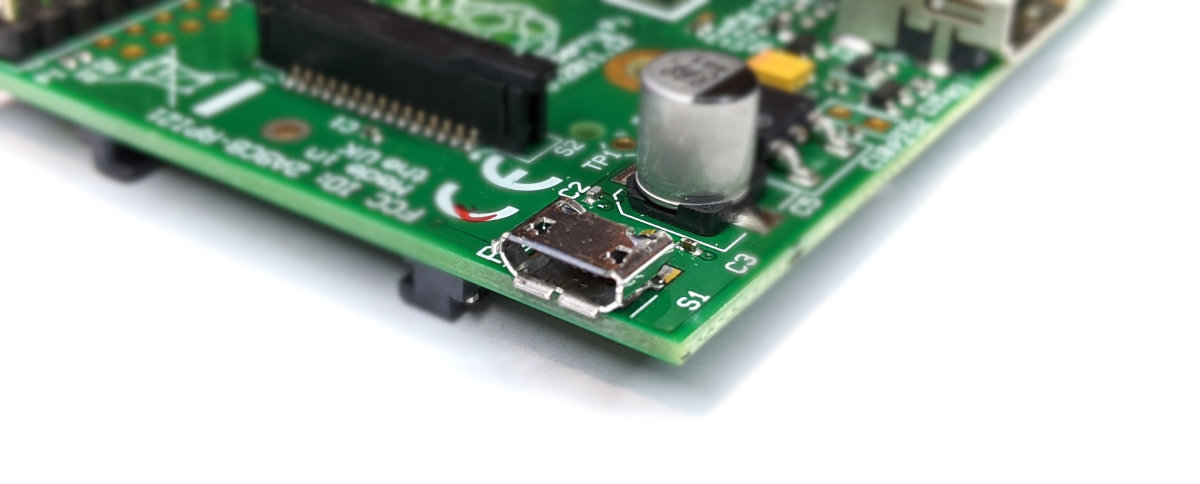 Raspberry Pi B Micro USB Power Input
