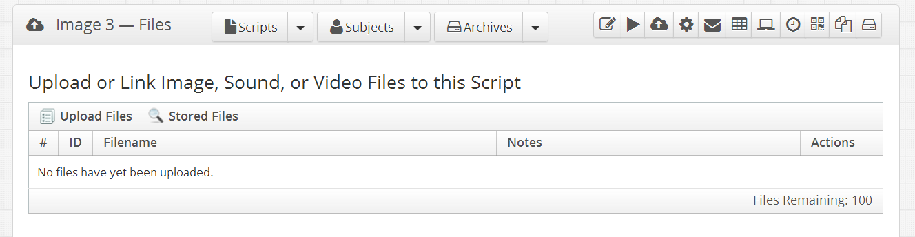 Section where you can upload and manage your files