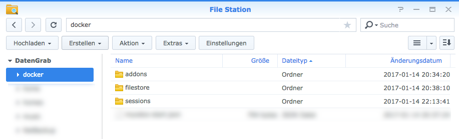 Docker - Synology Filestore