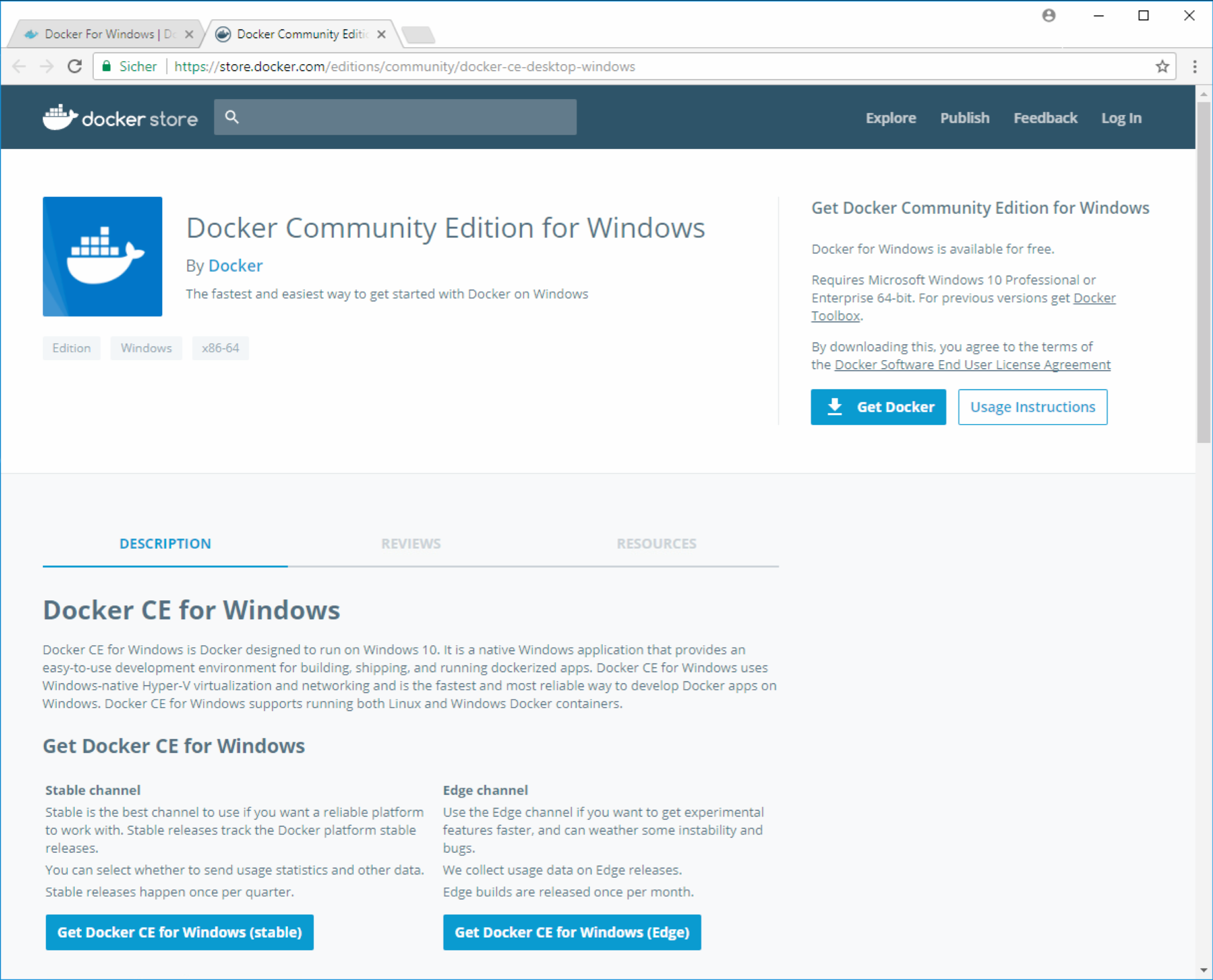 Docker Windows - Homepage Docker