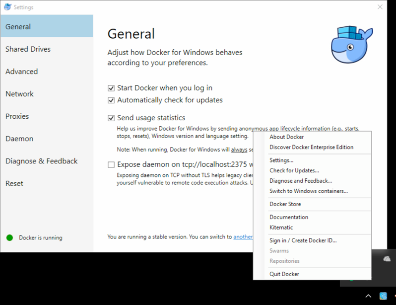 Docker Windows - Docker unter Windows