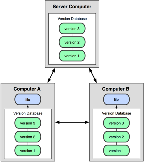 Figure 1-3. Distributed version control diagram.