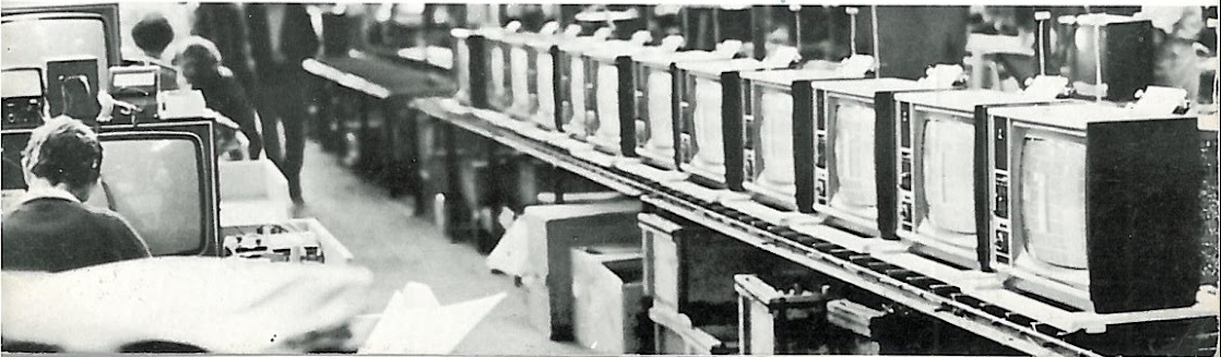 Vidmatic Production Line 1974 (Source: Pye Marketing News, 1974)