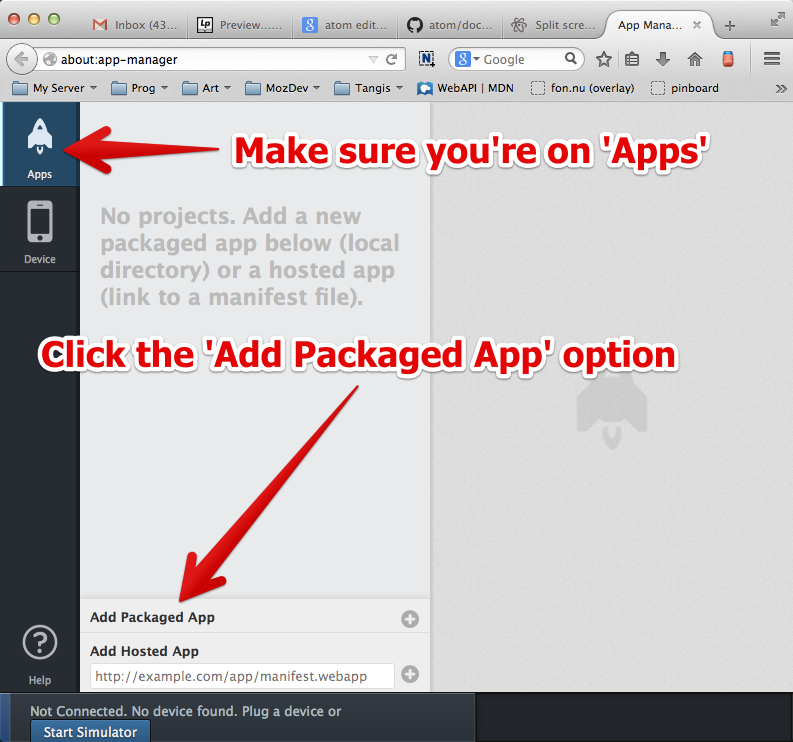 Showing the *Add Packaged App* option that adds a packaged app to the App Manager