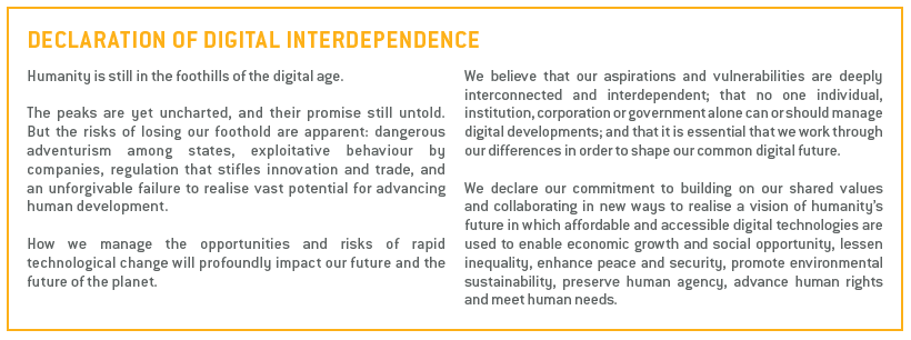 The Declaration of Digital Interdependence (June 10, 2019)
