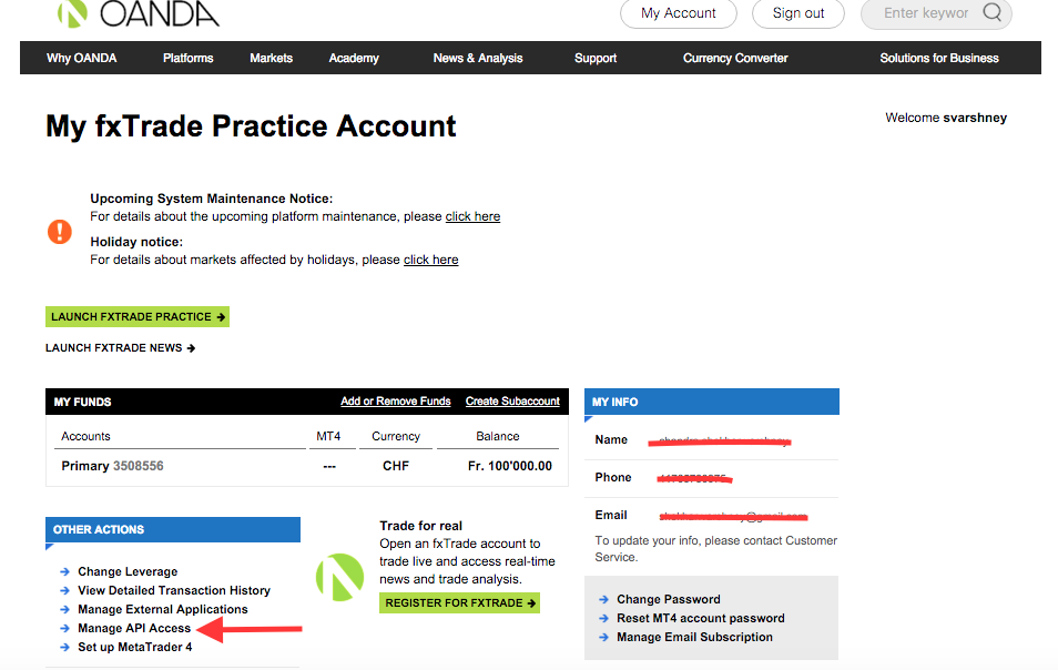 Forex practice account login
