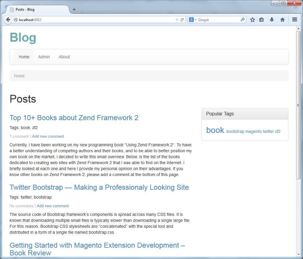 Web Development with Zend Framework 2