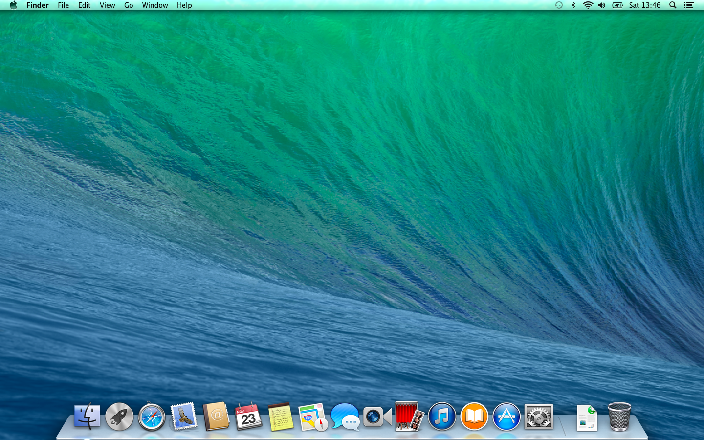 Mac OS X 10.9 default desktop