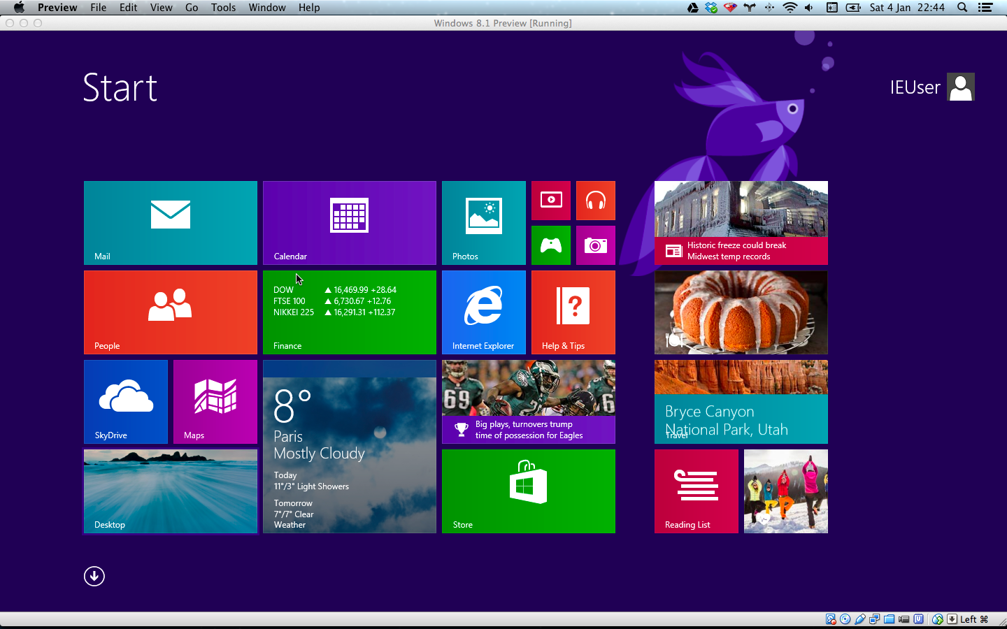 Windows 8.1 default desktop