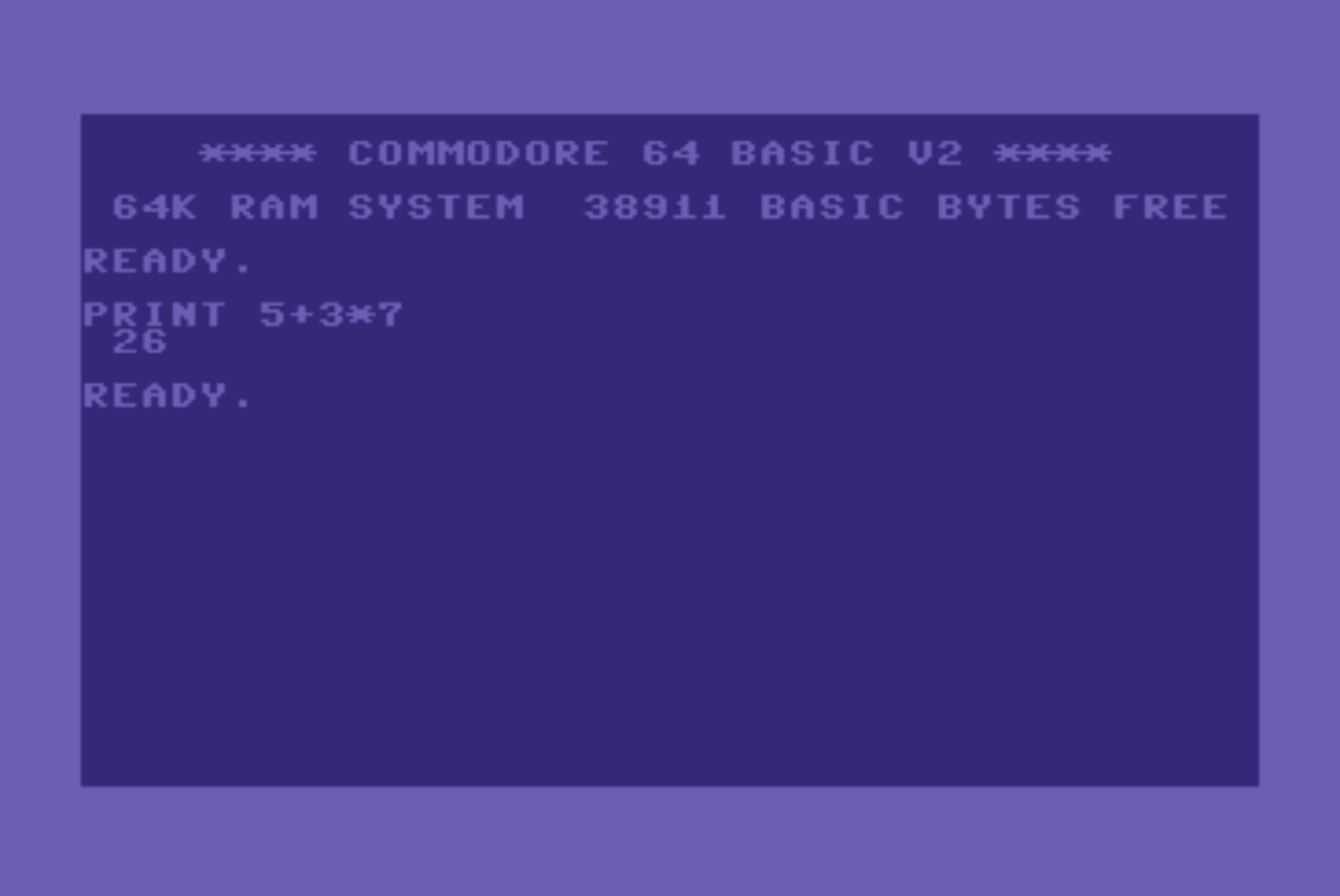 A C64 starts directly with BASIC