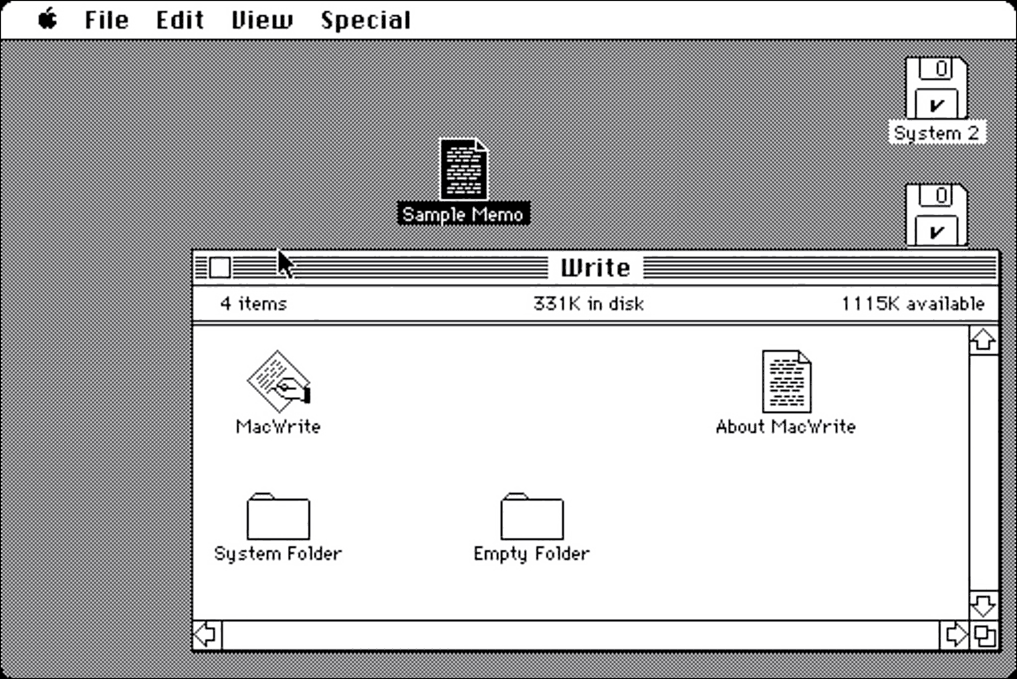 An early version of MacOS