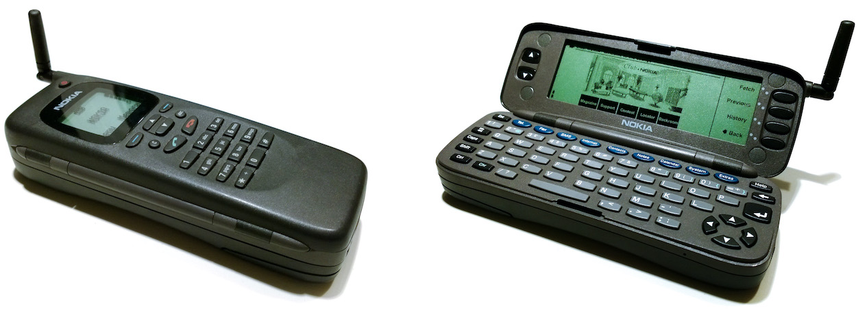 Nokia 9000 in closed and opened state - Image: textlad (CC-BY 2.0)