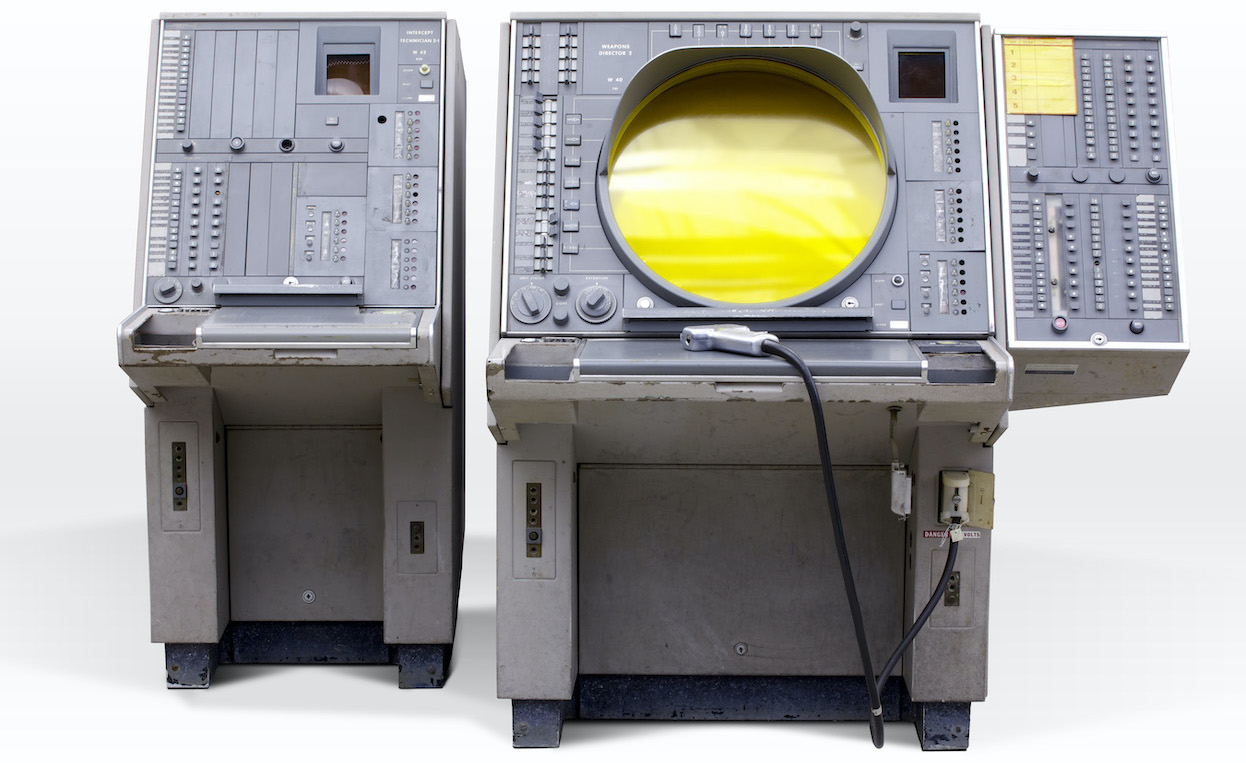 A Weapons Director Console - image courtesy of the Computer History Museum