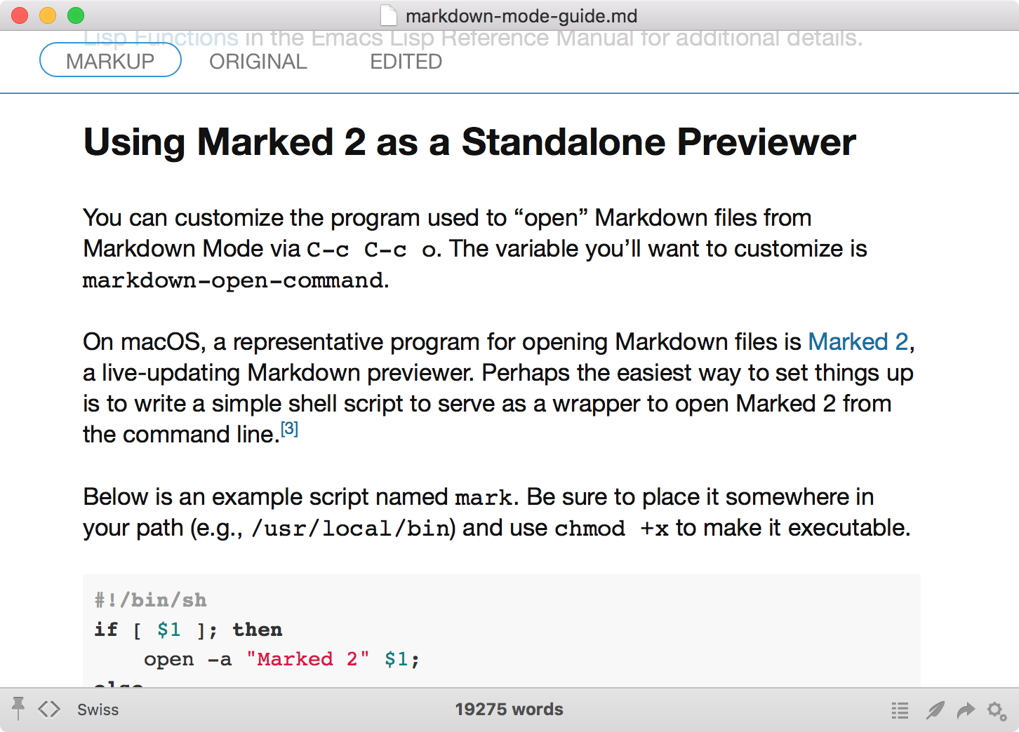Read Guide to Markdown Mode for Emacs | Leanpub