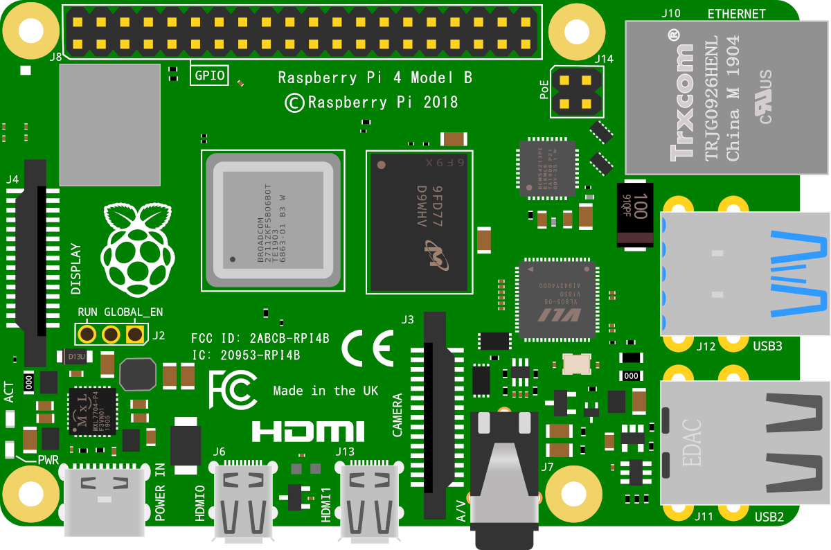 The Raspberry Pi B+ Board