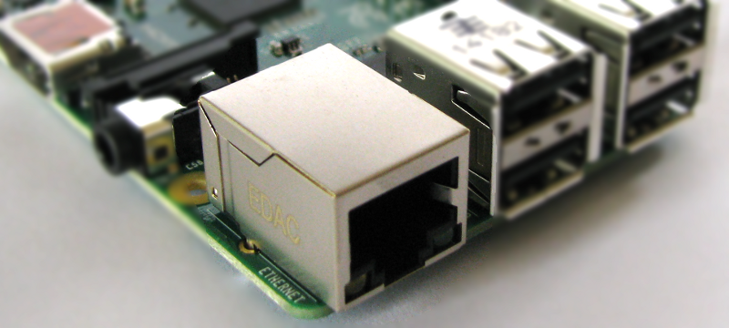 Raspberry Pi Model B Ethernet Connector