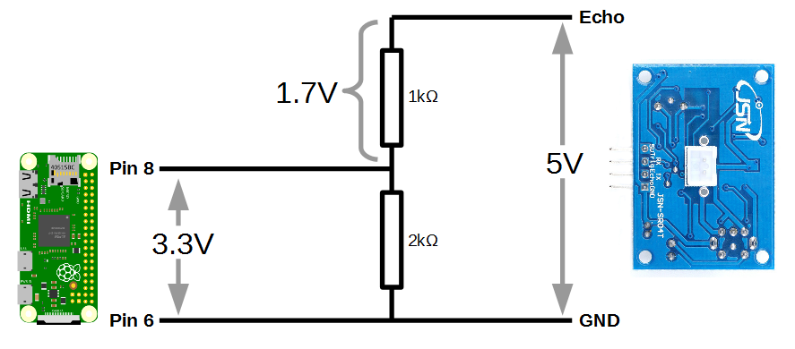 How the voltage divider works