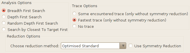 The verification options of the query dialog.